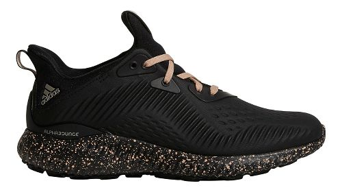 Womens adidas AlphaBounce 1 Running Shoe - Black/Ash Pearl 8.5