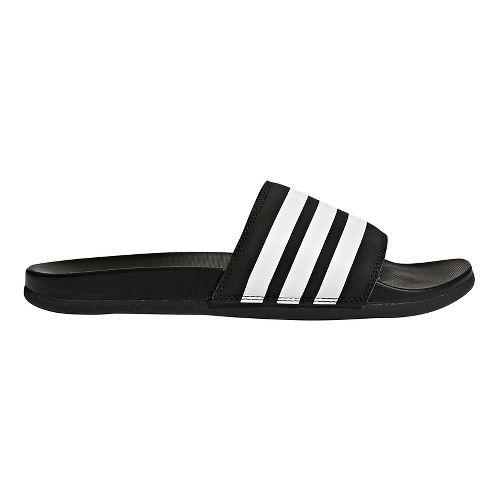 Mens adidas Adilette CF+ Sandals Shoe - Black/White/Black 11