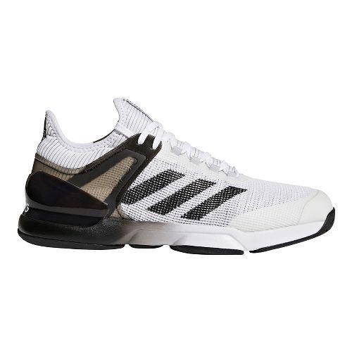 Mens adidas Adizero Ubersonic 2.0 Court Shoe - White/Black/Grey 10