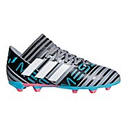 Kids adidas Nemeziz Messi 18.3 Firm Ground Cleated Shoe - Grey/White/Black 6Y