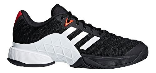 Mens adidas Barricade 2018 Court Shoe - Black/White/Scarlet 10.5