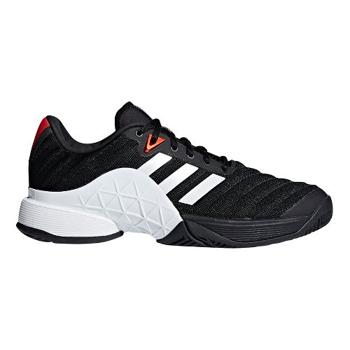 Mens adidas Barricade 2018 Court Shoe - Black/White/Scarlet 9