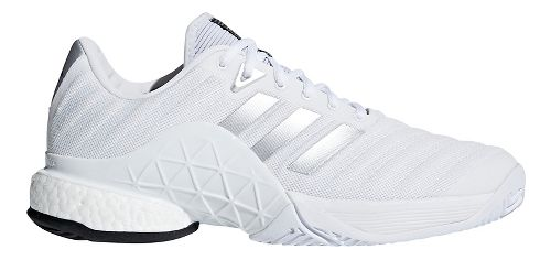 Mens adidas Barricade 2018 Boost Court Shoe - White/Silver 11