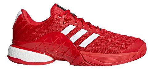 Mens adidas Barricade 2018 Boost Court Shoe - Scarlet/White 8.5