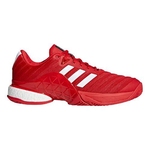 Mens adidas Barricade 2018 Boost Court Shoe - Scarlet/White 8.5