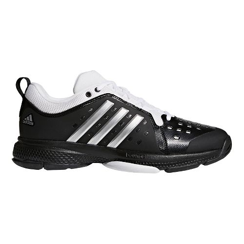 Mens adidas Barricade Classic Bounce Court Shoe - Black/Silver/White 13