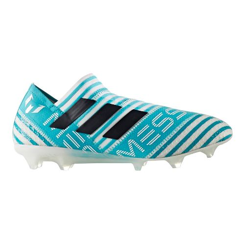 Mens adidas Nemeziz 17+ 360 Agility Firm Ground Cleated Shoe - White/Blue 9