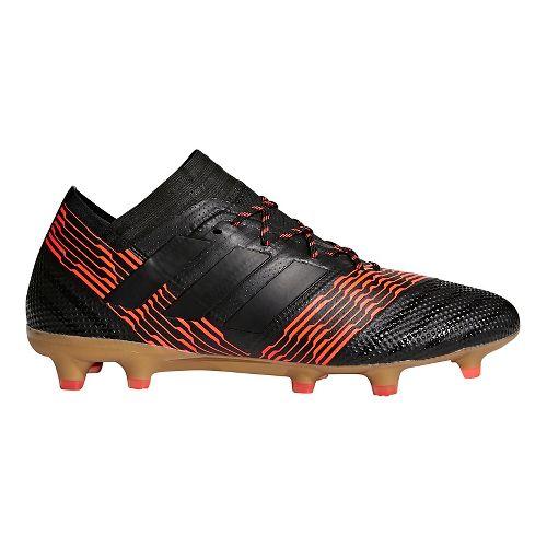 Mens adidas Nemeziz 18.1 Firm Ground Cleated Shoe - Black/Black/Red 11
