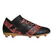 Mens adidas Nemeziz 18.2 Firm Ground Cleated Shoe - Black/Black/Infrared 10