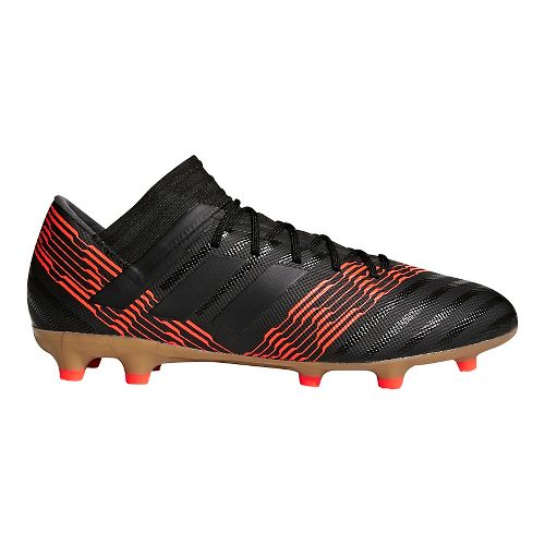 Mens adidas Nemeziz 18.3 Firm Ground Cleated Shoe - Black/Black/Infrared 10.5