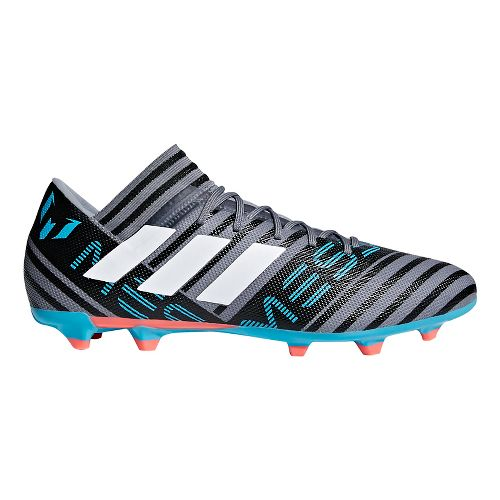 Mens adidas Nemeziz Messi 18.3 Firm Ground Cleated Shoe - Grey/White/Black 10