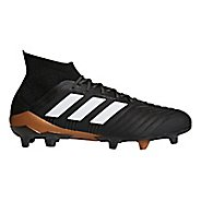 Mens adidas Predator 18.1 Firm Ground Cleated Shoe - Black/White/Infrared 10.5