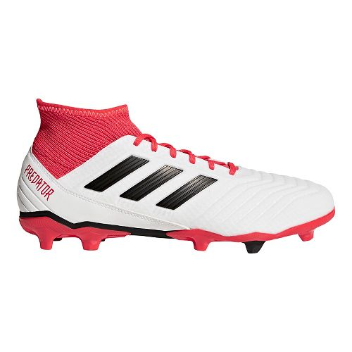 Mens adidas Predator 18.3 Firm Ground Cleated Shoe - White/Black 10