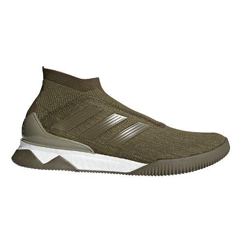 Mens adidas Predator Tango 18+ Running Shoe - Olive/Olive/Orange 10.5