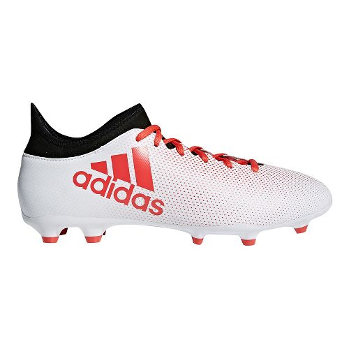 Mens adidas X 18.3 Firm Ground Cleated Shoe - White/Black 9.5