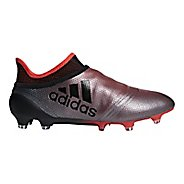 Mens adidas X 18+ Purespeed Firm Ground Cleated Shoe - Grey/Black/Coral 8.5