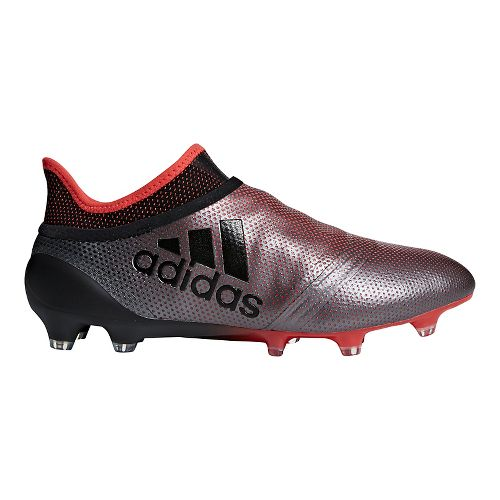 Mens adidas X 18+ Purespeed Firm Ground Cleated Shoe - Grey/Black/Coral 9