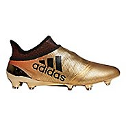 Mens adidas X 18+ Purespeed Firm Ground Cleated Shoe - Gold/Black/Red 8.5
