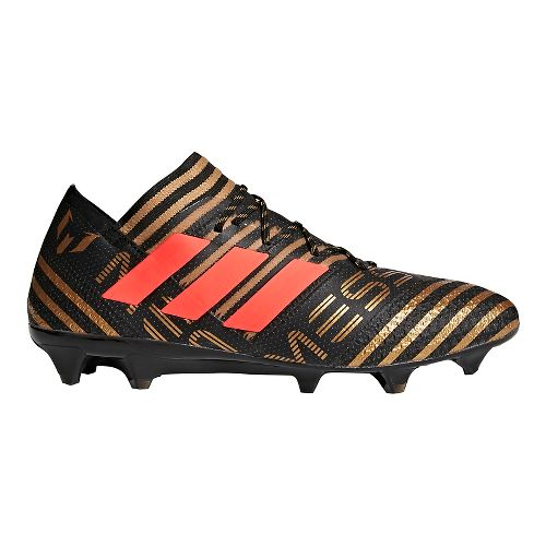 Mens adidas Nemeziz Messi 18.1 Firm Ground Cleated Shoe - Black/Red/Gold 9