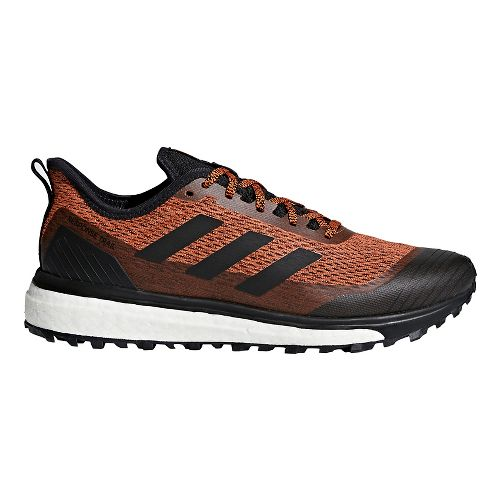 Mens adidas Response Trail Running Shoe - Orange/Black 10.5