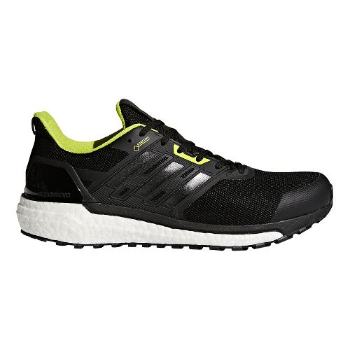 Mens adidas Supernova GTX Running Shoe - Black/Black/Yellow 13