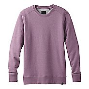 Mens Prana Asbury Crew Long Sleeve Technical Tops - Thistle Heather L