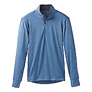Mens Prana Pratt 1/4 Zip Long Sleeve Technical Tops - Sunbleached Blue L