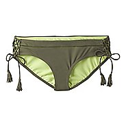 Womens Prana Ikenna Bottom  Swim - Cargo Green L