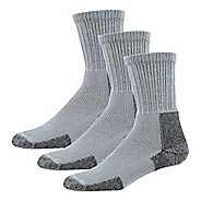 Mens Thorlos Hiking Thick Padded Crew 3 Pack Socks - Grey XL