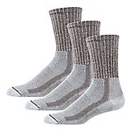 Mens Thorlos Lite Hiking Moderate Padded Crew 3 Pack Socks - Walnut/Heather M