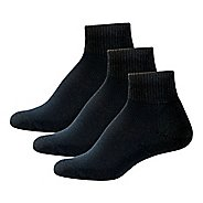 Womens Thorlos Health Padds Low-Cut 3 Pack Socks - Black M