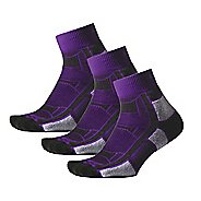 Thorlos Outdoor Athlete Low-Cut 3 Pack Socks - Purple Craze M