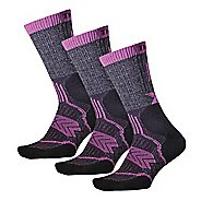Thorlos Outdoor Fanatic Crew 3 Pack Socks - Purple Mountain M