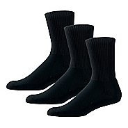 Thorlos Tennis Thick Padded Crew 3 Pack Socks - Black L