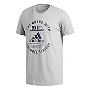 Mens adidas Badge of Sport Emblem T-Shirt Short Sleeve Technical Tops