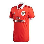 Mens adidas Benfica Home Replica Jersey Short Sleeve Technical Tops