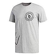 Mens adidas Dame Logo T-Shirt Short Sleeve Technical Tops