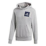 Mens adidas Essentials Cotton Pullover Logo Half-Zips & Hoodies Technical Tops
