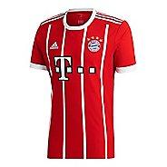 Mens adidas FC Bayern Munich Home Replica Jersey Short Sleeve Technical Tops