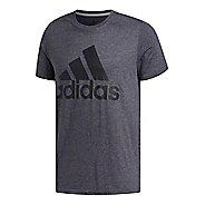 Mens adidas Logo T-Shirt Short Sleeve Technical Tops