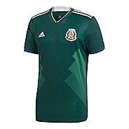 Mens adidas Mexico Home Replica Jersey Short Sleeve Technical Tops