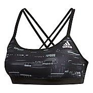 Womens adidas Crossback Stripe Hack Sports Bras