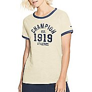Womens Champion Heritage Ringer Tee- Est 1919 Short Sleeve Technical Tops