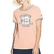 Womens Champion Heritage Ringer Tee-Classic Phys Ed Dept Short Sleeve Technical Tops