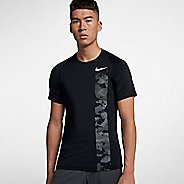 Mens Nike Pro Fitted Camo Short Sleeve Technical Tops