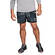 Mens Under Armour Launch SW 5-inch Print Unlined Shorts