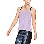 Womens Under Armour Whisperlight Foldover Sleeveless & Tank Tops Technical Tops