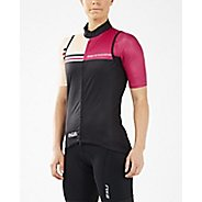 Womens 2XU Cycle Thermal Gillet Short Sleeve Technical Tops