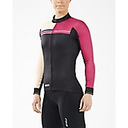 Womens 2XU Cycle Thermal Jersey Long Sleeve Technical Tops