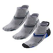 Mens R-Gear Super Plush Thin Cushion No Show Tab 3 pack Socks